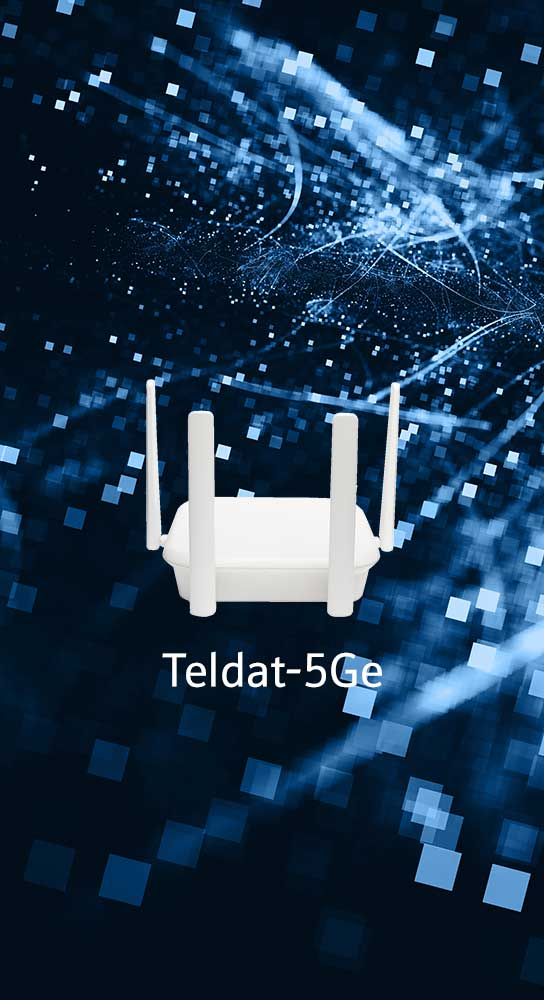 Teldat-5Ge enabler with 5G SA, NSA, DSS, ZTP, plus SD-WAN connectivity